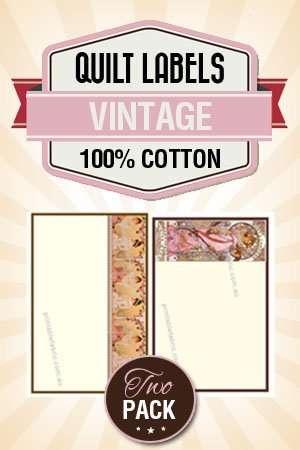 photograph regarding Printable Quilt Labels named Quilt Label Classic Artwork Deco