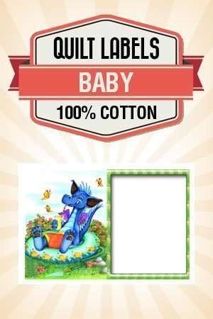 graphic regarding Printable Quilt Labels titled Quilt Label B07 Child Dragon